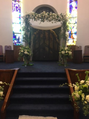 Simply Beautiful Chuppah  in Teaneck, NJ | Teaneck Flower Shop (A.A.A.A.A.)