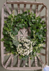Simply Chic Hanging Basket Wreath