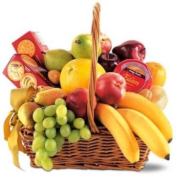 SIMPLY DELICIOUS FRUIT & GOURMET BASKET