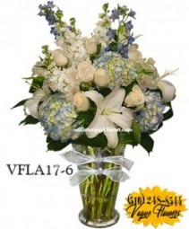 SIMPLY ELEGANT BLUE FLORAL ARRANGEMENT