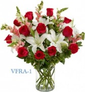 Simply Elegant Red Floral Arrangement