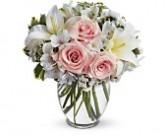 Simply Elegant Vase of Hydrangeas, Roses, Lilies
