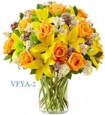 Simply Elegant Yellow Floral Arrangement