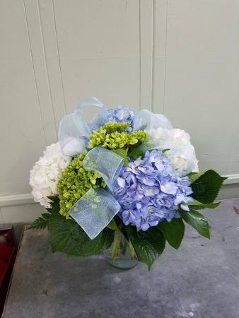 Simply Hydrangea Vase Arrangement