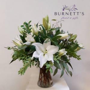 Simply Lilies  Vase Arrangement in Kelowna, BC | Burnett's Florist