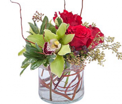 Simply Orchids & Roses  Vase