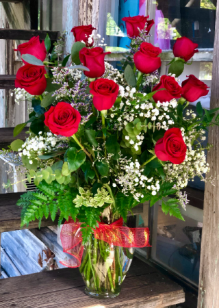 Simply Perfect Red Roses One Dozen Long Stem Red Roses Arranged