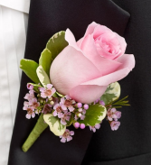 Simply Pink Rose Boutonniere Simply Pink Rose Boutonniere