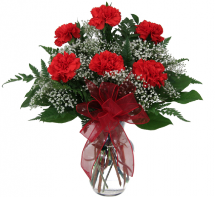 Simply Red Carnations In Hesperia Ca Acacia S Country Florist