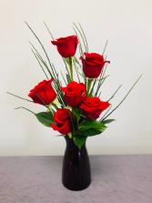 Simply Red Rose Arrangement