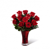 Simply Ruby Red Rose Arrangement