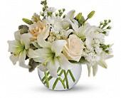 Simply Romantic Vase Arrangment all in White