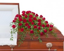 Simply Roses Deluxe Casket Spray - As Shown  Spray