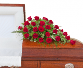 Simply Roses Standard Casket Spray