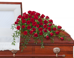 Simply Roses  Supreme Casket Spray  in Saugerties, NY | THE FLOWER GARDEN