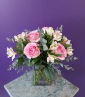 Simply Rosey vase arrangement