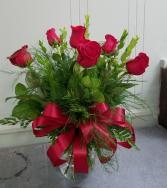 Simply Six Half Dozen Roses