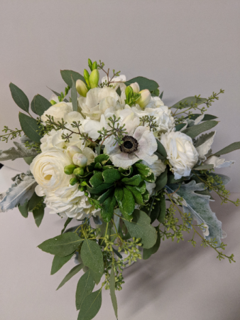 SIMPLY STUNNING IN WHITE WEDDING BOUQUET