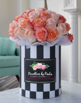 Simply Sweet in Stripes Flower Box Bouquet