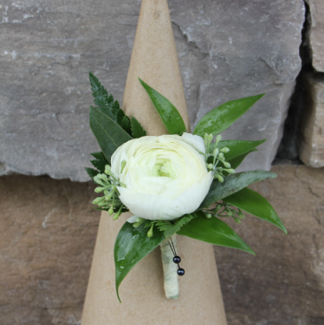 Simply Sweet Ranunculus  Boutonniere