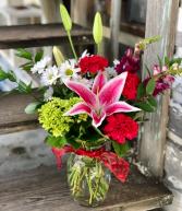 Simply Sweet Vase of Fresh Cut Valentine's Flowers