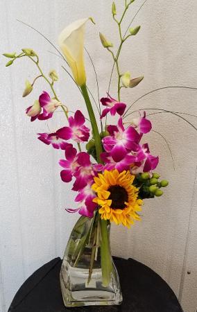 Simply Thank You Vase Arrangement