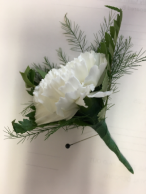 Simply white Boutonniere in Newmarket, ON | THE ROSE PROS