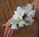 Simply White Orchid Corsage Wrist Corsage