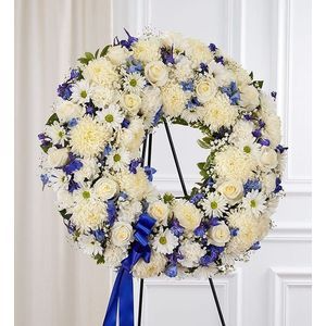 Sincere Condolences Standing Wreath