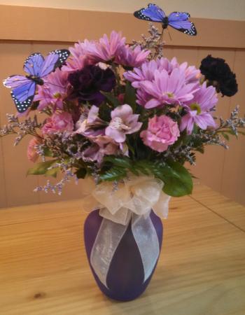 Sincere Gratitude Bouquet Fresh Vase Arrangement