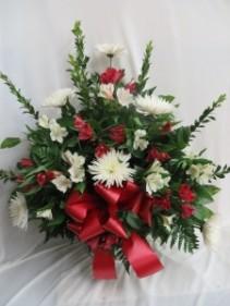 Sincere Sentiments Fresh Funeral Basket