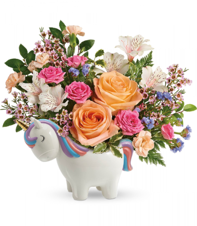 Magical Garden Unicorn Bouquet All-Around Floral arrangement