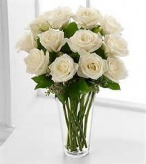 Sincere White Roses 1 Dozen white roses