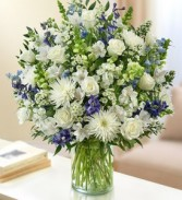 Sincerest Sorrow - Blue and White Fresh Arrangement