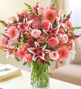 Sincerest Sorrow - All Pink Sympathy Arrangement