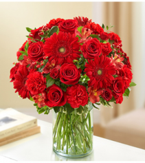 Sincerest Sorrow™ All Red Sympathy Arrangement