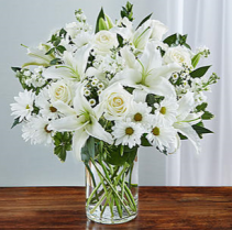 Sincerest Sorrow™ All White Sympathy Arrangement