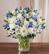 Sincerest Sorrow™ Blue & White Vase arrangement