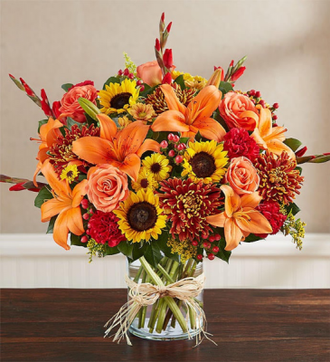 sincerest sorrow fall floral arrangement
