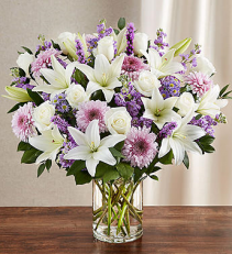 Sincerest Sorrow™ Lavender & White Sympathy Arrangement