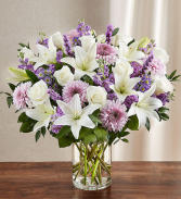 Sincerest Sorrow™ Lavender & White Sympathy Flowers / All Occasions