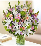 Sincerest Sorrow™ Multicolor Pastel Sympathy Arrangement