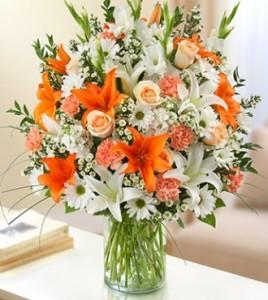 Sincerest Sorrow Peach, Orange and White