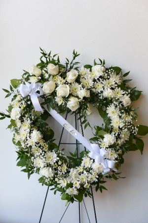 Sincerest Sympathy Heart Wreath in La Grande, OR | FITZGERALD FLOWERS