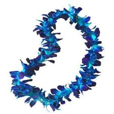 Single Blue Orchid Lei