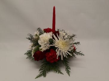 Single Candle Centerpiece Christmas