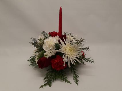 Single Candle Centerpiece Christmas