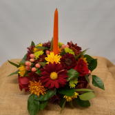 Single Candle Centerpiece Thanksgiving