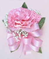 Single Carnation Corsage Pin on corsage