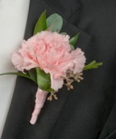 Single Carnation  We can use different color flower, ribbon , etc.